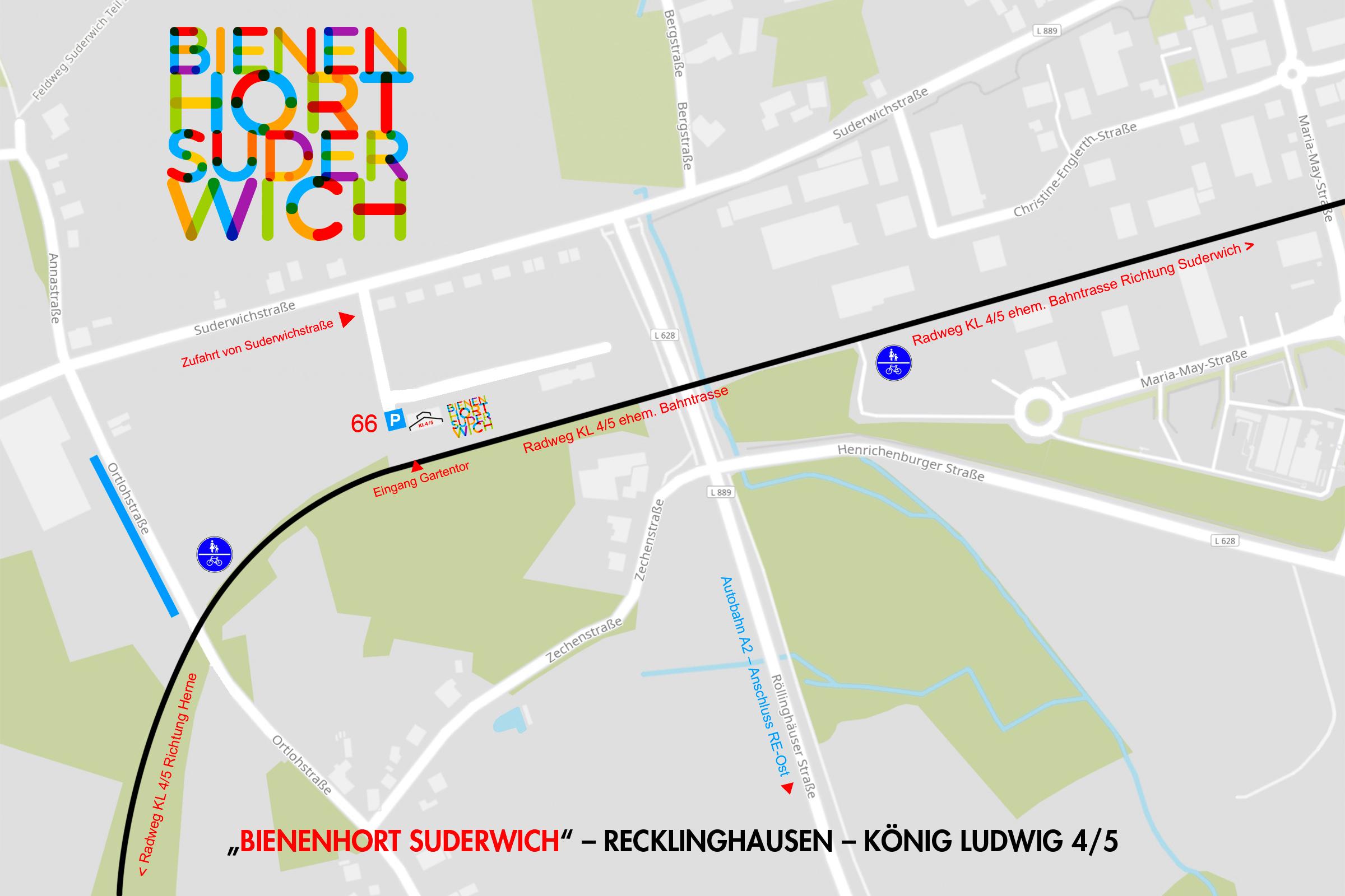 Tag der Offenen Gartenpforte Recklinghausen Lageplan